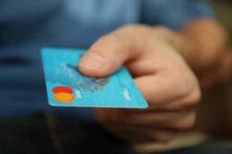 Man paying with a credit card